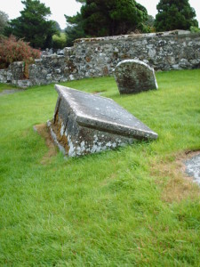 Ancient tombs of Clonmacnoise