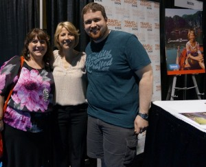 Meeting my idol, the beautiful Samantha Brown