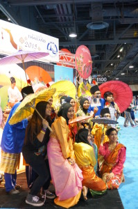Colorful Thailand booth