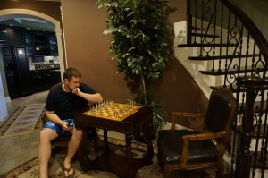 Tucked away nook for a relaxing game of chess