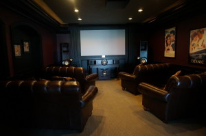 we had the movie room all to ourselves