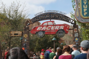 Entrance to Radiator Springs Racers