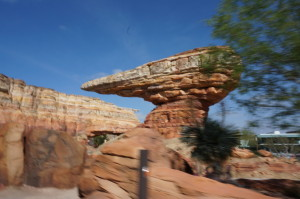 Racing on the Radiator Springs Racer ride