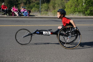 Young Wheelchair Racer