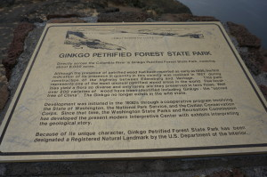 Park sign explaining the forest